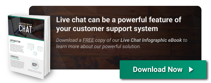 Download the Live Chat Infographic eBook